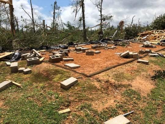 A tornado in southeast Lawrence County on Easter Sunday of 2020 ripped a home to shreds, leaving nothing but cinder blocks and dirt behind.