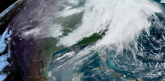 A real-time weather simulation shows conditions as of about 9:30 a.m. Friday, April 13, 2020. High wind gusts could knock out power, meteorologist say.