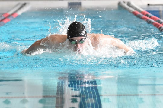 Howell's Hunter Gubeno is the only Livingston County boy to win a state high school swimming championship, capturing two events as a junior.