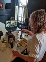 Courier Journal columnist Dana McMahan recently hosted a virtual bourbon tasting and happy hour with friends during the coronavirus pandemic.
