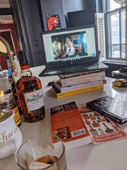 Courier Journal columnist Dana McMahan hosted a virtual bourbon tasting for friends recently during the coronavirus pandemic.