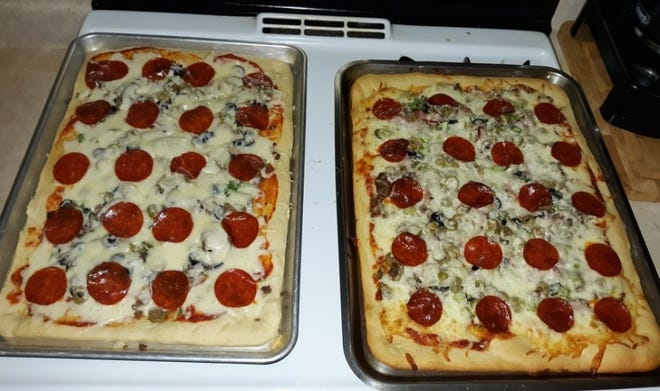 """Lovina's daughter recently made pizza for dinner using one of her recipes in her new cookbook, """"Amish Family Recipes."""""""