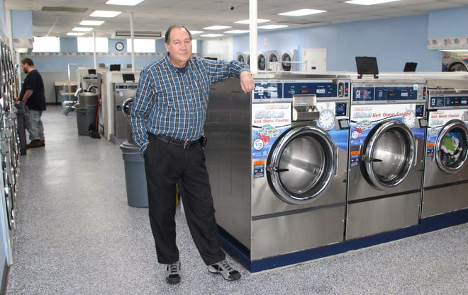 """Ron Schifer and his wife, Leslie, have owned Colonial Coin Laundry since 2004. He said sales have dropped by 15 percent during the coronavirus pandemic. Schifer said the business is """"in good shape"""" financially and will survive and rebound once the pandemic runs its course. Colonial Coin Laundry operates two locations in Marion, on North Main Street and Bellefontaine Avenue."""