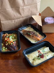 Takeout from Felicia Suzanne's in downtown Memphis.