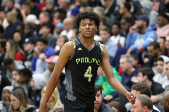 Prolific Prep's Jalen Green #4 is seen against La Lumiere during a high school basketball game at the Hoophall Classic, Sunday, January 19, 2020, in Springfield, MA.