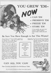 "This ad in The Muncie Star urged local residents to plant ""victory gardens."""