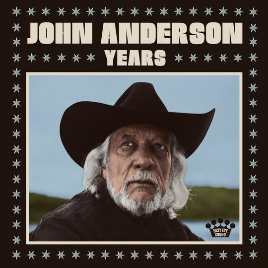 "Album artwork for John Anderson's ""Years."""