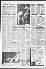 Watkins Memorial star A.J. Sager pitched the Warriors to a victory against Lakewood on April 23, 1982.