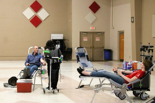 On April 13-14, 2020, Gerald Champion Regional Medical Center held a blood drive at the Sgt. Willie Estrada Memorial Civic Center.