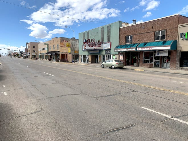 Downtown businesses shuttered as the governor enacted orders banning nonessential business operations.