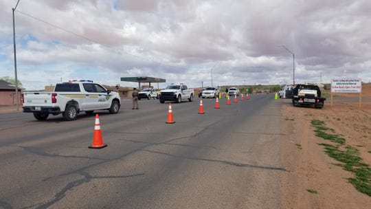 The Tuba City district for the Navajo Police Department conducted a checkpoint in the Arizona community during the weekend curfew.