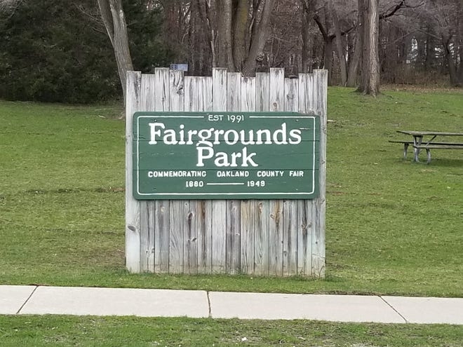 Milford's Fairgrounds Park pays tribute to the Oakland County Fair, held there through 1949. The park can be found across the street from the original fairgrounds location.