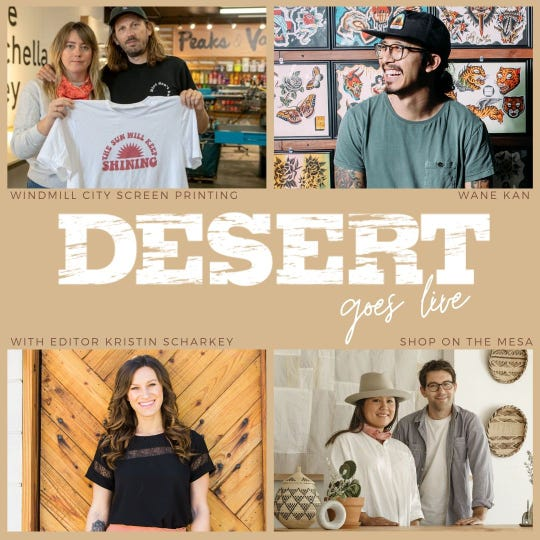 DESERT Mag editor Kristin Scharkey hosts Instagram chats with Coachella Valley business owners.