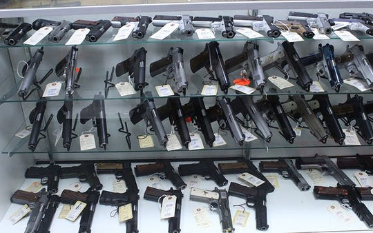 Gun shop owners said they saw a lot of first-time buyers in March, and that cheaper handguns and ammunition were particularly popular items.