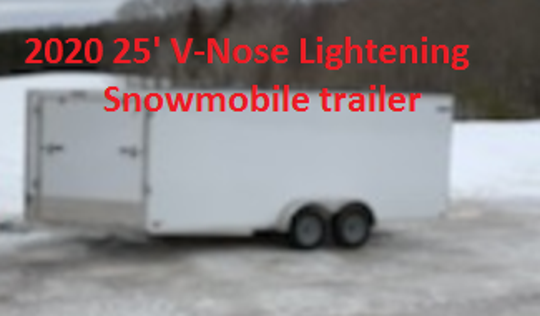 A snowmobile trailer was stolen from a residence on Beach Road in Port Huron Township Sunday evening.