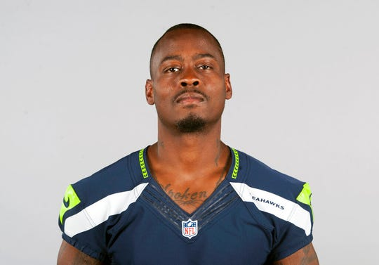 This is a 2015 file photo showing Tarvaris Jackson of the Seattle Seahawks NFL football team.  Jackson died in a one-car crash outside Montgomery, Ala., authorities said Monday, April 13, 2020. He was 36.
