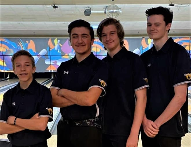 Participaing in the state 2020 Utah State Youth Bowling Tournament from southern Utah were, from left to right, Cody Telford, Morgan Bedford, Max Izatt and Kaiden Roberts.