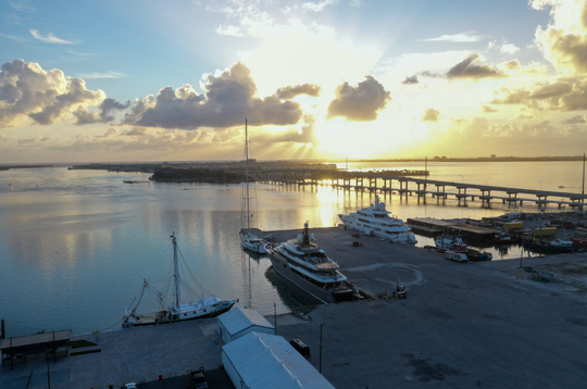 Four vessels are docked on county owned land at the Port of Fort Pierce