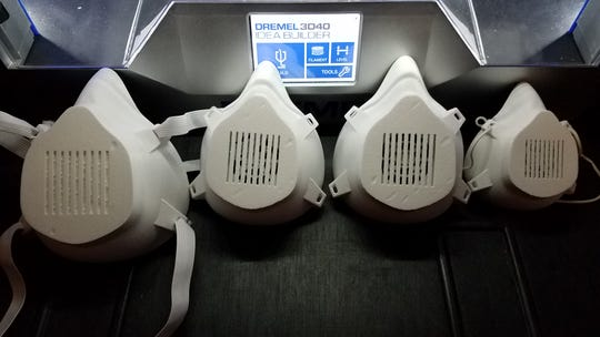 3D printers are being used by Beebe Healthcare system and Nemours to provide face masks and shields to healthcare workers assisting people during the coronavirus pandemic.