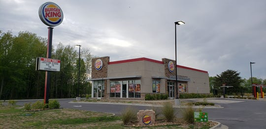 A Burger King in Lonoke, Arkansas, closed due to the coronavirus. Fast food restaurants are often the only option for interstate travelers due to the closures caused by the spread of the virus.