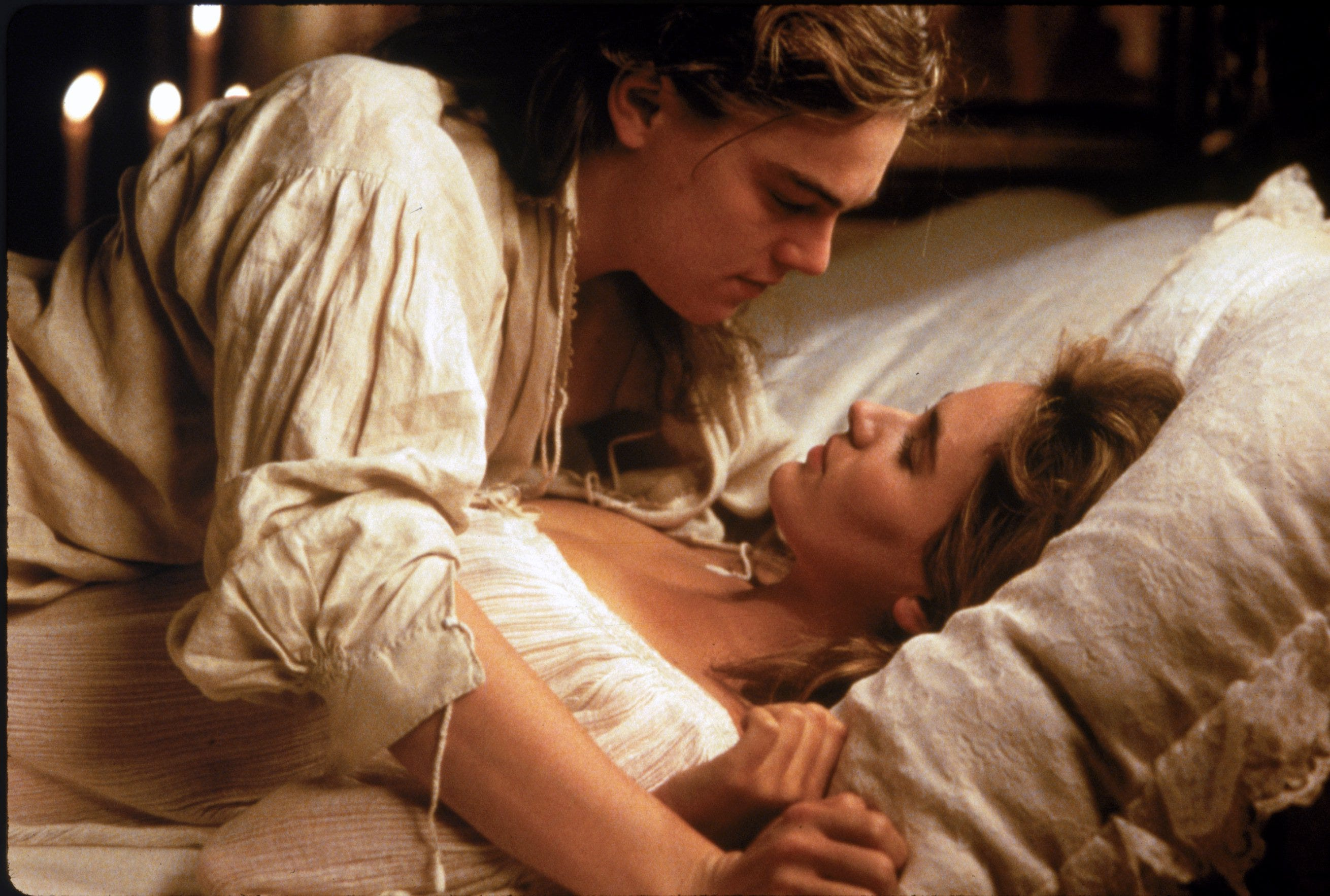"Leonardo DiCaprio (with Judith Godreche) stars as King Louis XIV in ""The Man in the Iron Mask."""