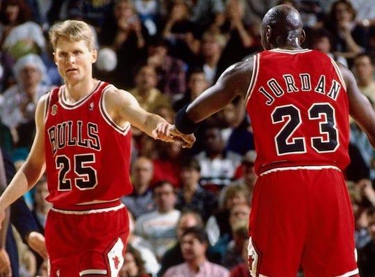 Steve Kerr was teammates with Michael Jordan for five seasons with the Bulls, winning three championships.