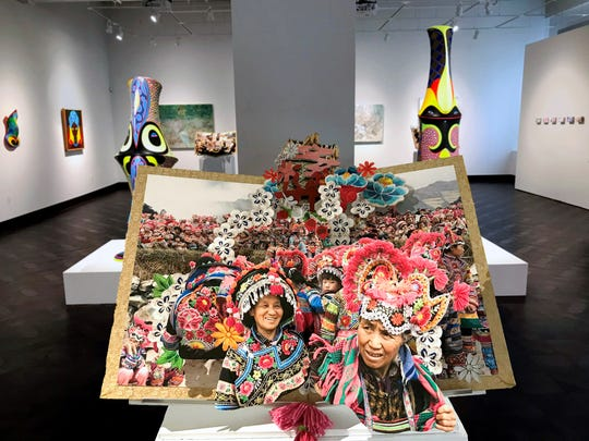 """""""Yi Costume Festival,"""" an archival inkjet pop-up book by Colette Fu, is featured in """"Tracing Origins,"""" an on-line exhibition from the Rowan University Art Gallery."""