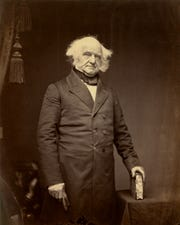 Eighth President Martin Van Buren, who needed a good haircut.