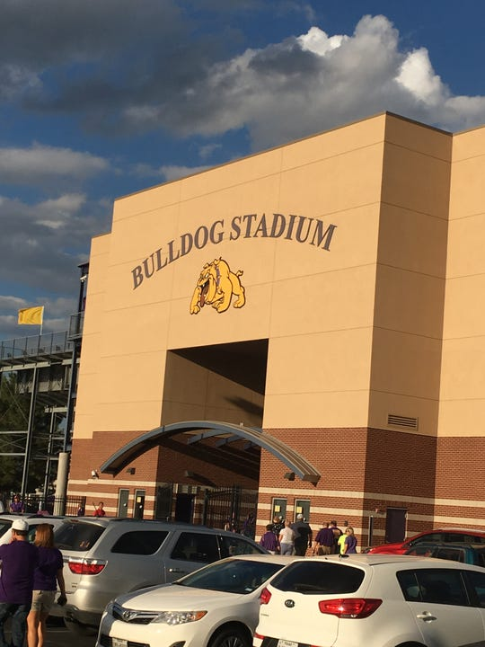 Wylie's Bulldogs Stadium before a game in 2016. On Monday, the Wylie ISD school board unanimously voted to rename the facility Hugh Sandifer Stadium. Coach Sandifer retired after 41 years at the school and 34 as as the head coach of the Bulldogs earlier this year.