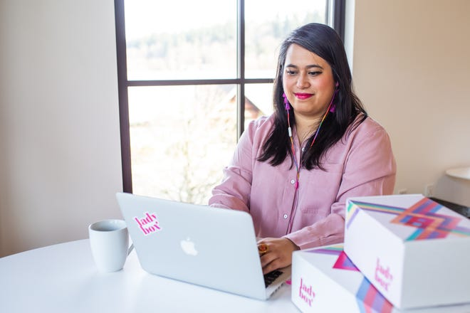 Kitsap resident Aljolynn Sperber created Lady Box to bring menstruation products and care items to customers' doorsteps. She partners with companies who work with charitable organizations, and her company donates to some as well.