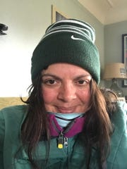 Free Press reporter Tresa Baldas, 52, recovers at home from COVID-19. This photo was taken 13 days after the symptoms first hit, at the tail end of her illness.