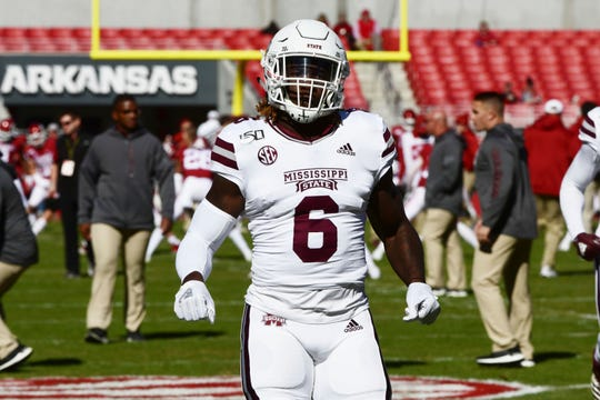 Mississippi State linebacker Willie Gay Jr. is a possible Day 2 draft choice for the Lions.