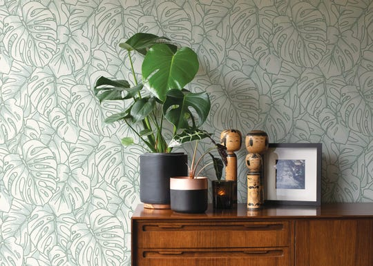 Drew and Jonathan Scott have a new wallpaper collection, Scott Living, with A-Street Prints.