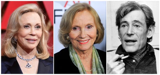 """This combination photo shows actress Faye Dunaway at the Oscars on at the Dolby Theatre in Los Angeles on Feb. 26, 2017, from left, Eva Marie Saint at the premiere of the film """"The Imaginarium of Dr. Parnassus"""" at AFI Fest in Los Angeles on Nov. 2, 2009 and British actor Peter O'Toole during an interview at his London home on Dec. 23, 1980. The 2020 TCM Classic Film Festival may have been canceled, but the film-loving folks at Turner Classic Movies have decided to take the festival to their cable channel. They will offer long form interviews from past festivals with film legends like Dunaway, Saint and O'Toole. (AP Photo)"""