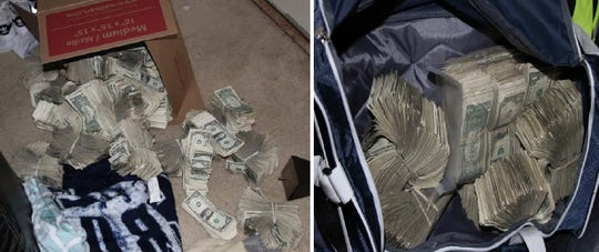 In all, investigators found more than $250,000 inside the Baltimore apartment.
