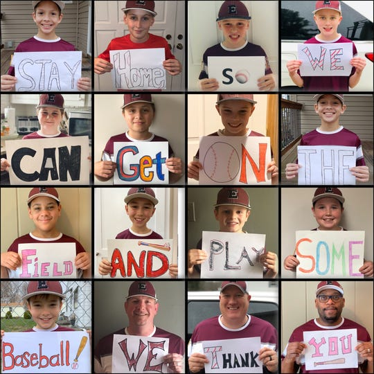 The 9-under West Elmira Cal Ripken baseball team put together this PSA encouraging people to stay healthy so baseball can return soon.