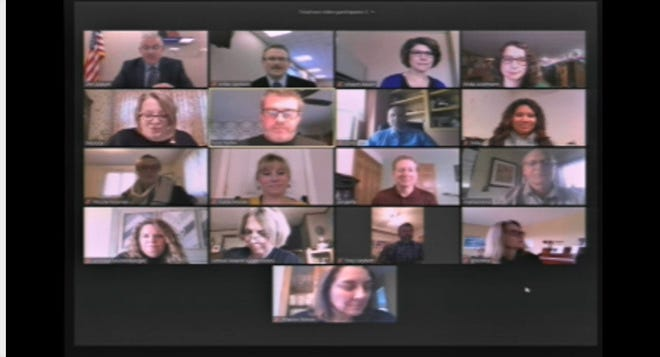 Fond u Lac School Board met virtually first the first time Monday night, April 13.