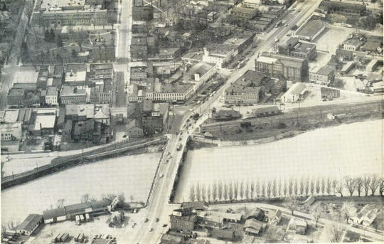 The river in Fremont before the river wall was installed.
