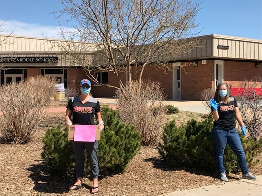 Boltz Middle School raised almost $14,000 in gift cards for families in need during a 3-hour drive outside the school April 6, 2020.