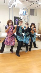 Ready for battle. These Lee Health professionals are unified and ready for the fight against the coronavirus.