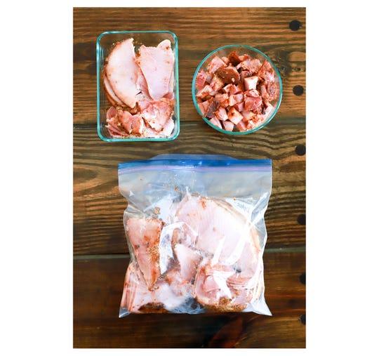 Saving leftover for homemade glazed ham