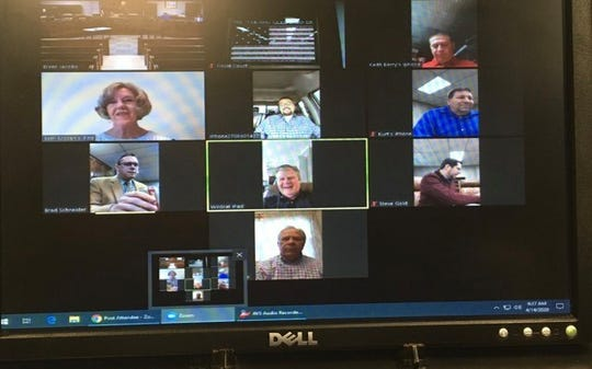 Henderson County Fiscal Court meets via Zoom Tuesday, April 14, 2020.