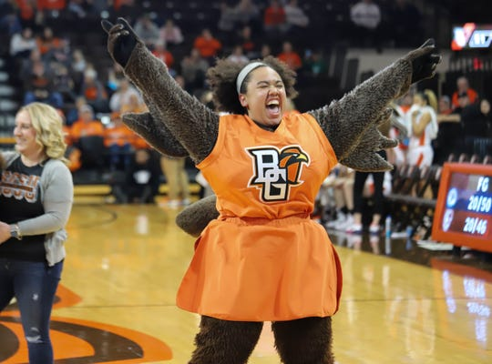 Bowling Green State University junior and Clear Fork alum Morgan Orr spent her winter semester as Frieda the Falcon, the mascot for the BGSU Falcons.
