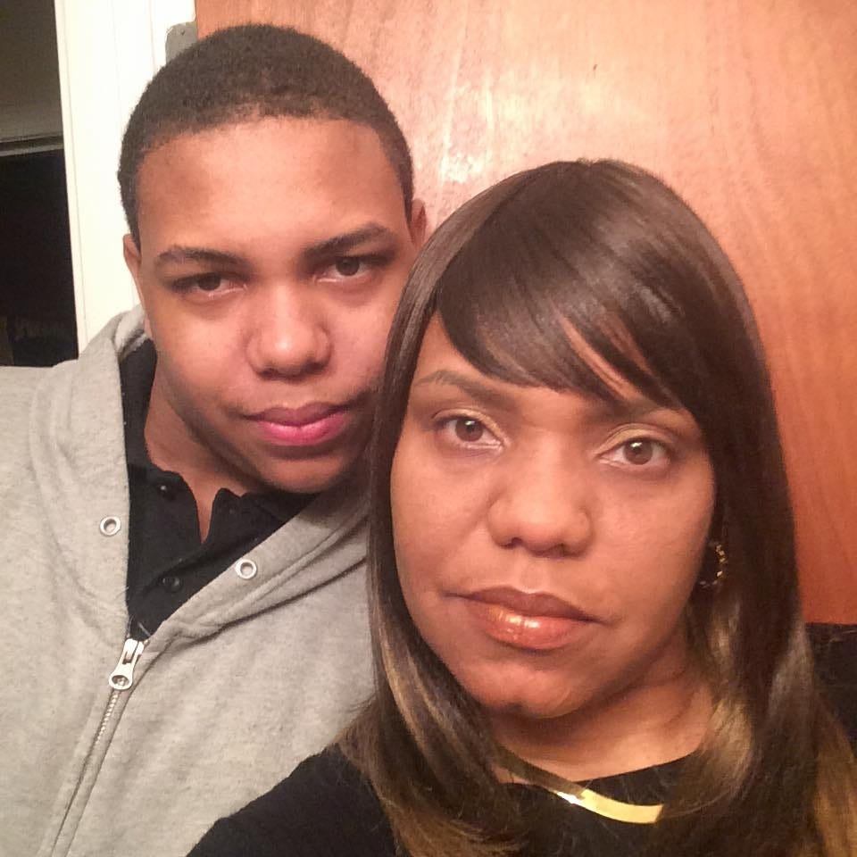 Gwendolyn Taylor with her son, Quinkoyan Dequaria Taylor, 17, who was fatally shot on Dec. 30, 2016.