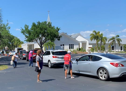 Our Daily Bread mobile pantry served supplemental food to 125 families on Marco Island, April 3, 2020.