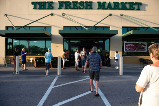 Fresh Market stores on April 14, 2020, began requiring all customers to wear masks because of the coronavirus pandemic.