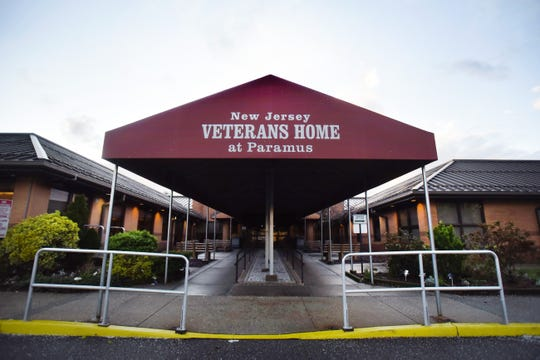 Exterior photo of the New Jersey Veterans Home in Paramus, NJ on 04/13/20.