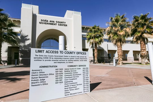The Doña Ana County Government Center was closed to prevent the spread of COVID-19 on Tuesday, March 24, 2020 in Las Cruces.