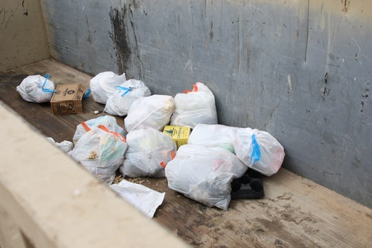 Garbage waits to be picked up April 14, 2020 at the Eddy County Artesia Fairground Convenience Station. In the past month, convenience stations across the county have seen an increase in residential trash.