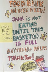 Local artist, Jana Lynch, started a fundraiser to help the Lincoln County Food Bank.